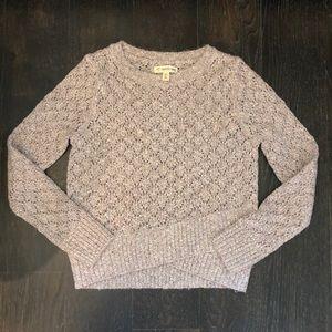 Girls knit long sleeve sweater